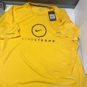 NIKE  DRI-FIT Livestrong Yellow Performance